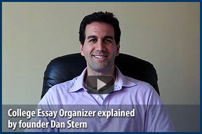 College Essay Organizer Explained By Founder Dan Stern