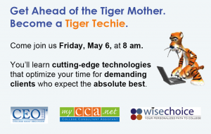 Tiger Techie Postcard